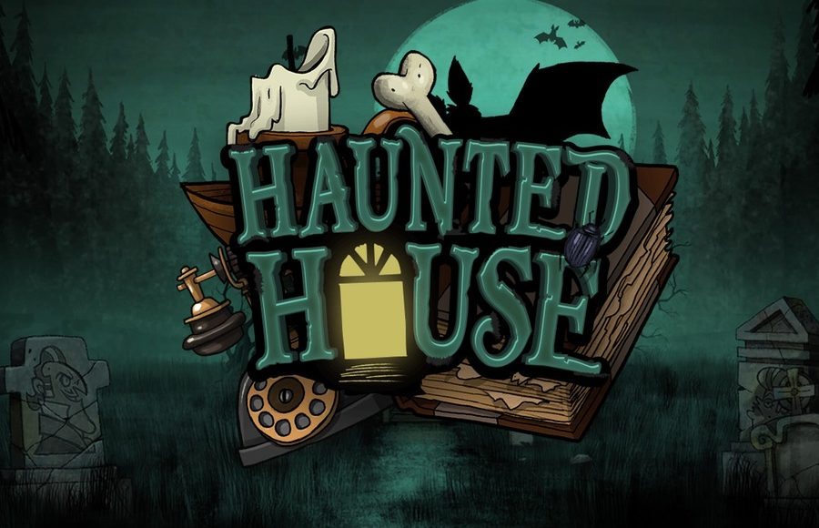 Logo art for Haunted House Slot Machine Game