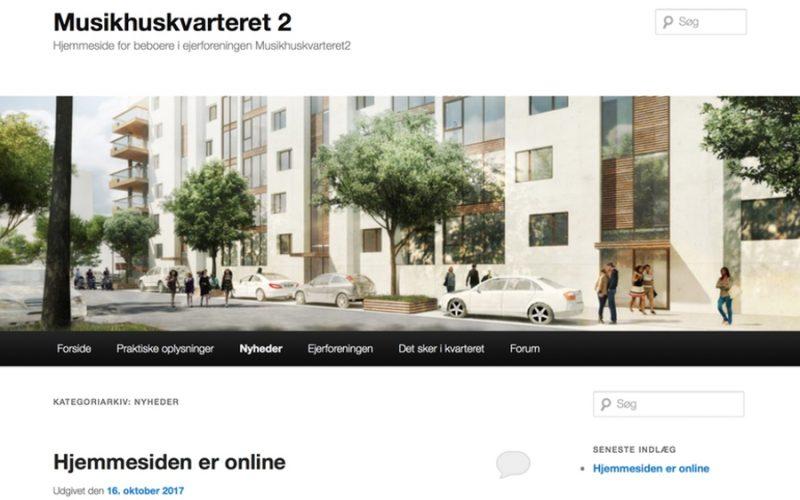 Screenshot of House of music neighborhood website