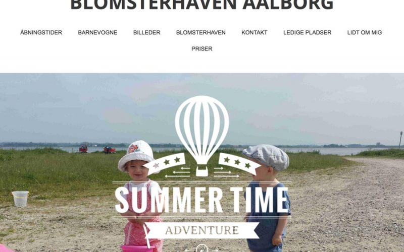 Screenshot of Blomsterhaven Aalborg Website